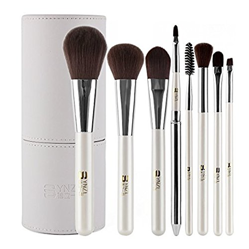 UNIMEIX 8PCs Makeup Brushes Set with Holder Professional Syn