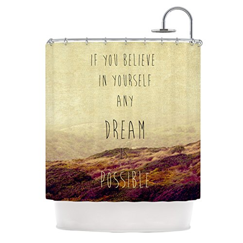 Kess InHouse Ingrid Beddoes Believe Desert Quote Shower...