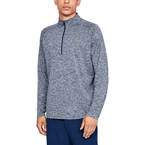 Under Armour Men's Tech ½ Zip Long Sleeve, Academy (408)/Steel, Medium