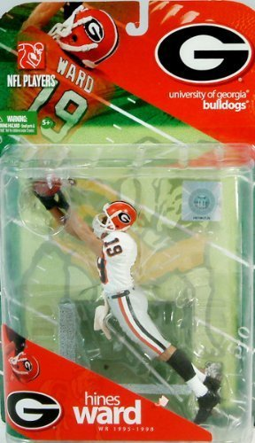 McFarlane Toys NCAA COLLEGE Football Sports Picks Series 1 Action Figure Hines Ward (Georgia Bulldogs) White Jersey Variant