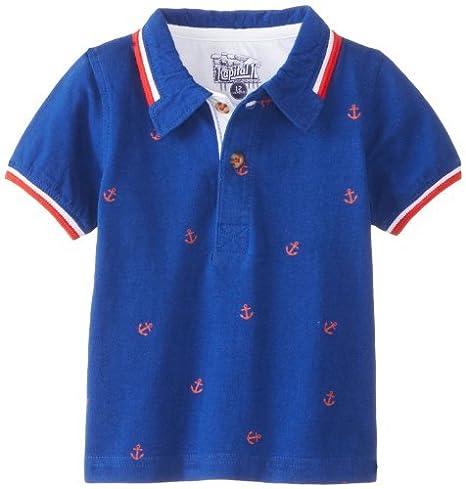 Kapital K bebé-Boys infantil ancla Allover Polo, Blue Harbour, 12 ...