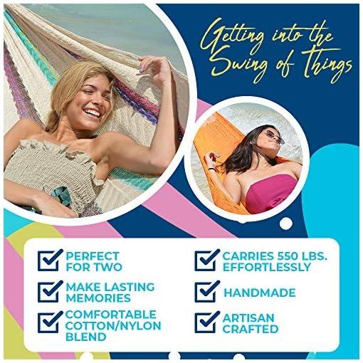 Garden and Outdoor HAMMOCKS RADA- Handmade Yucatan Hammock – Matrimonial Size Natural Color – 13ft Long Artisan Crafted… hammocks
