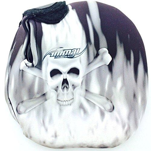 Stubby Tank (Voodoo Skull Neoprene Paintball Tank Cover - Stubby - Grey)