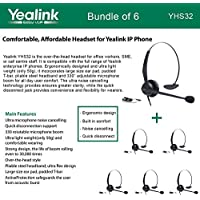 Yealink YHS32 Comfortable Headset, Ultra Noise Cancelling, Bundle of 6