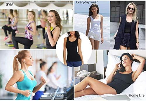 Joyshaper Cami Shaper for Women Tummy Control Shapewear Tank Tops with Built-in Shelf Bra Compression Camisole Padded Bra