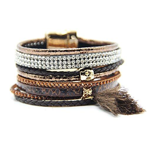 Lin Suu Jewelry Ipanema Style Brown Multibraided Brazilian Style Bracelet Brazilian Jewelry