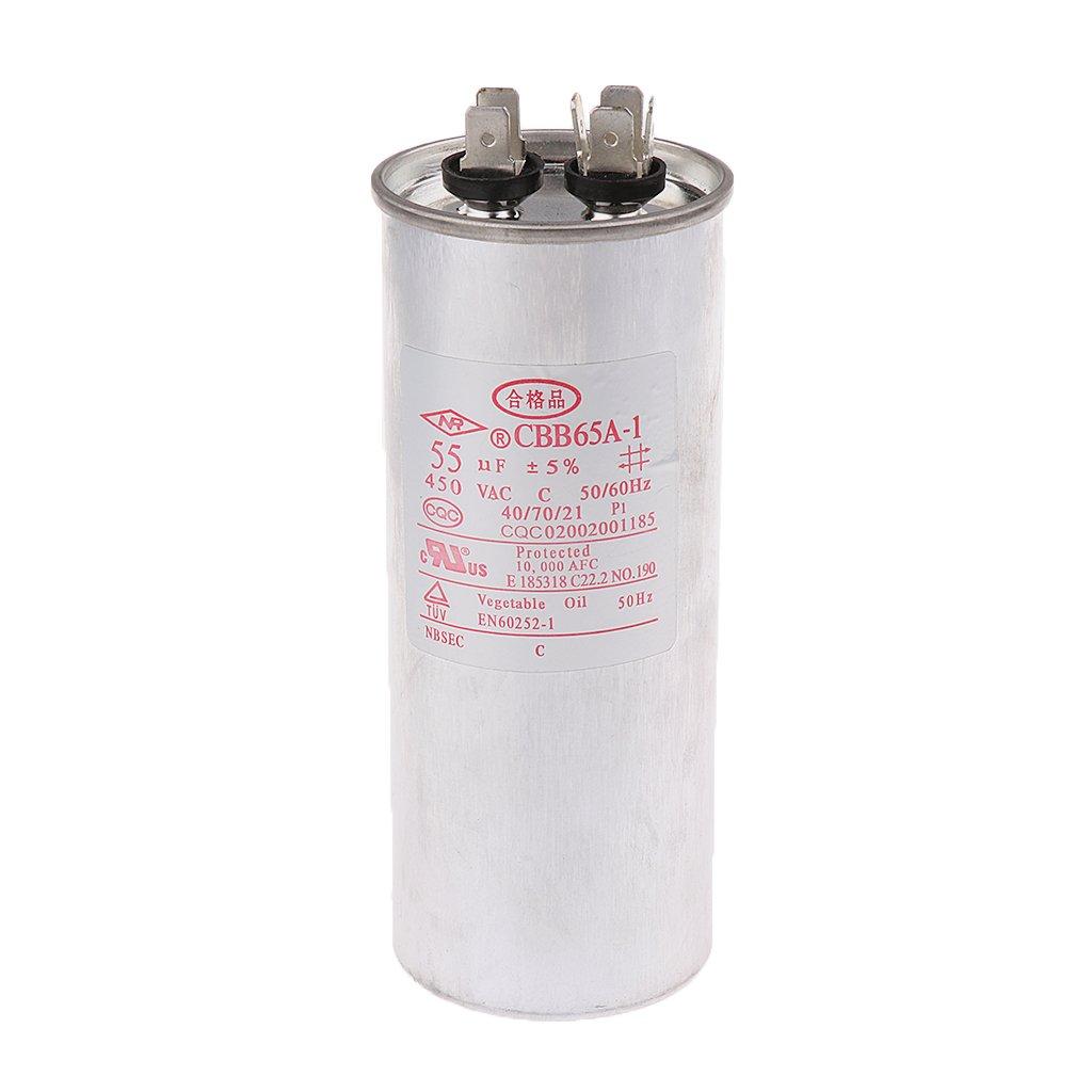 Sharplace Condensador de Motor Bricolaje Instalación Eléctrica CBB65 AC 450V 50 60HZ Accesorios de Conductos - 55VF: Amazon.es: Bricolaje y herramientas