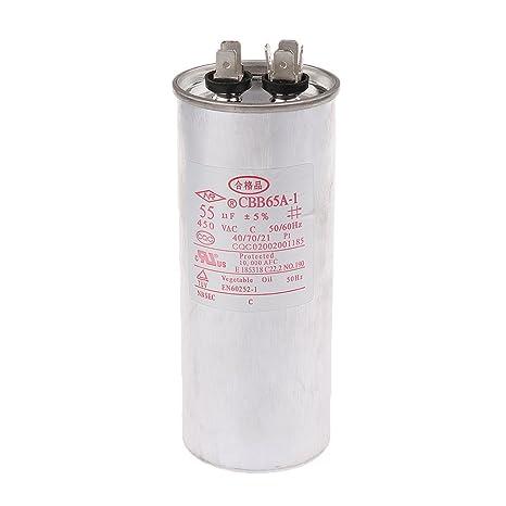 MagiDeal CBB65 AC 450V 50 60HZ Compresor de Arranque de Motor Condensador de Aire Compresor -