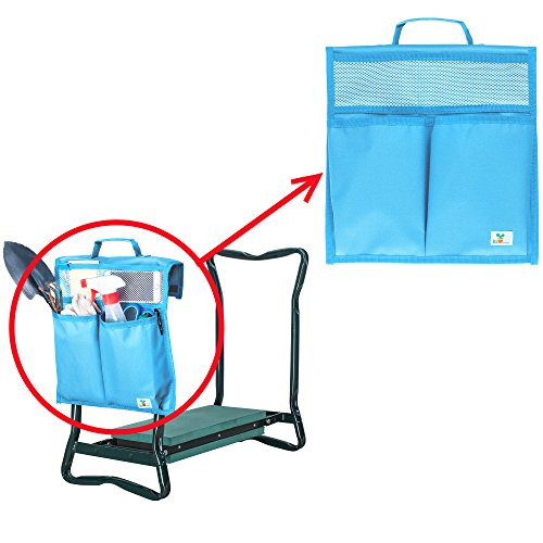 KI Store Garden Kneeler Tool Bags for Both Standard and Wide Kneeling Chair, Pouches for Patio,Bathroom, Laundry Room, Garage(Deep Sky Blue)