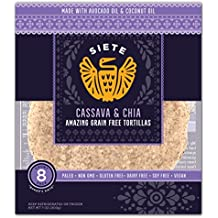 Siete Cassava & Chia Tortillas, 8 Tortillas per pack (6-Pack)