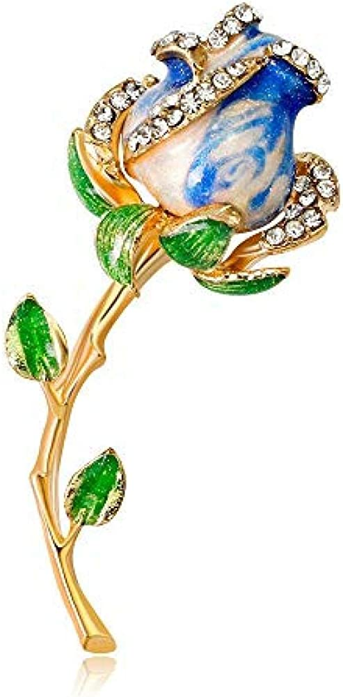 Brooch Rose Bouquet Brooch Anti-Going Silk Scarf Buckle Coat Western Ornament Badge Gift