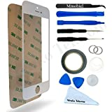 Kit de remplacement d'écran tactile pour iPhone 5 5C 5S SE BLANC inclus : Vitre de rechange, Pincette, Ruban adhésif 2mm, Chiffon microfibre, Kit d'outillage spécifique, fil métallique