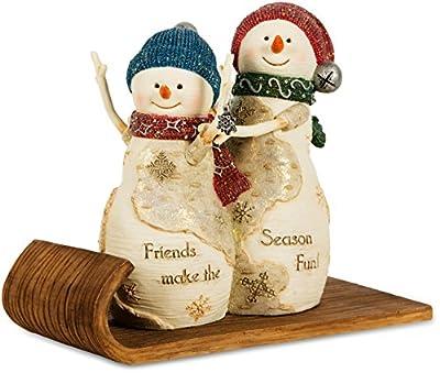 "Pavilion Gift Company 81115 The Birchhearts ""Fun Friends"" Snowman Figurine, 5-1/4-Inch"