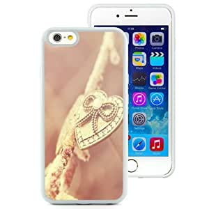 Fashionable Custom Designed iPhone 6 4.7 Inch TPU Phone Case With Heart Necklace Gold Pink_White Phone Case