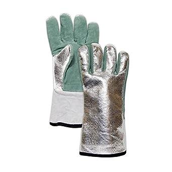 Guante Magid y seguridad djxg1575 weldpro - Carbono/Kevlar guantes de soldadura de cuero, grande, verde: Amazon.es: Amazon.es