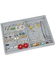 Smyckesbricka smycken organisatör sammet stapelbara smycken låda organiserare bricka örhänge ring halsband armband display monter smycken förvaringsbrickor
