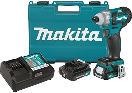 Makita DT04R1 12V Max CXT Lithium-Ion Brushless Cordless Impact Driver Kit 2.0Ah ,