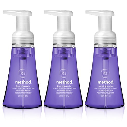 Method Naturally Derived Foaming Hand Wash, French Lavender, 10 Ounce (Pack of (Self Foaming Soap Refill)