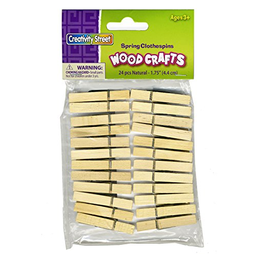 Chenille Kraft 24 Pc. Natural Wood Spring Clothespins 1.75