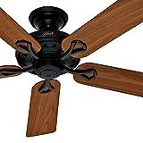 Hunter Fan 52 inch Matte Black Finish Ceiling Fan- Dark Reversible Blades (Certified Refurbished) For Sale