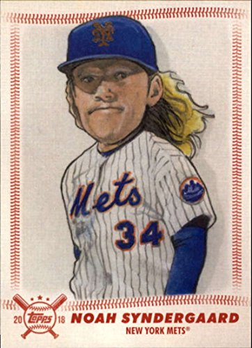 2018 Topps Big League Star Caricature Reproductions #SCR-NS Noah Syndergaard Mets MLB Baseball Card NM-MT