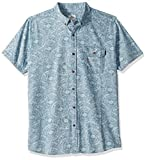 Rip Curl Men's Coastal Short Sleeve Button Up Shirt, Blue, S