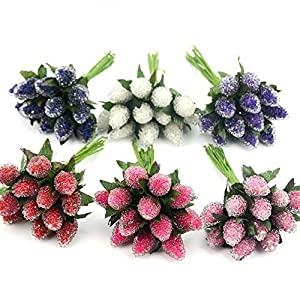 PeaceLove 12Pcs Artificial Berries for Decoration-Artificial Berries Branch Decor-DIY Fake Arrangement Flowers Christmas Decorations Outdoor-DIY Gift Box Craft Postcard Decor-Scrapbook Accessories 6