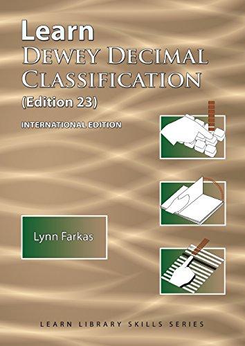 learn dewey decimal classification 23rd edition pdf