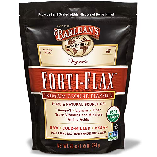 Barlean's Organic Oils Forti-Flax Flaxseed Supplements, 28 Ounce (Best Ground Flaxseed Brand)