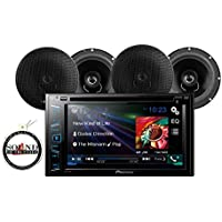 Pioneer In Dash Double DIN AVH-270BT 6.2 DVD/CD receiver with 2 Pairs of 6.5 Speakers and a FREE SOTS Air Freshener
