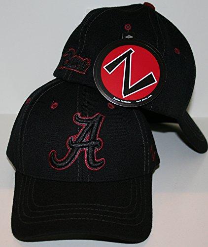 - Zephyr Alabama Crimson Tide Black Element Fitted Hat Size Medium/Large
