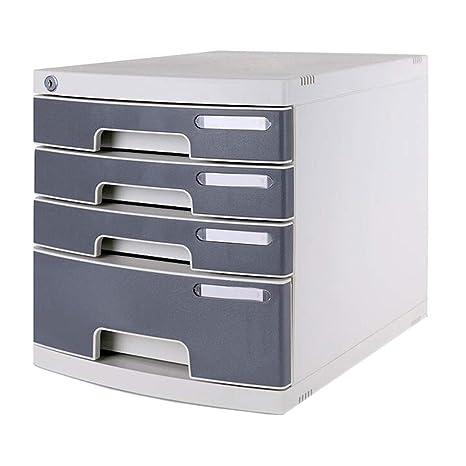 LPYMX Archivador, Caja de Almacenamiento de Oficina, gabinete de Datos Tipo cajón de plástico
