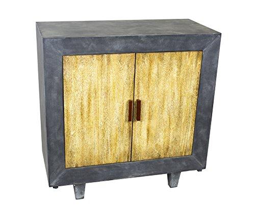Sagebrook Home 12303-03 2 Door Cabinet, 31.5″ X 15″ X 32″, Gray