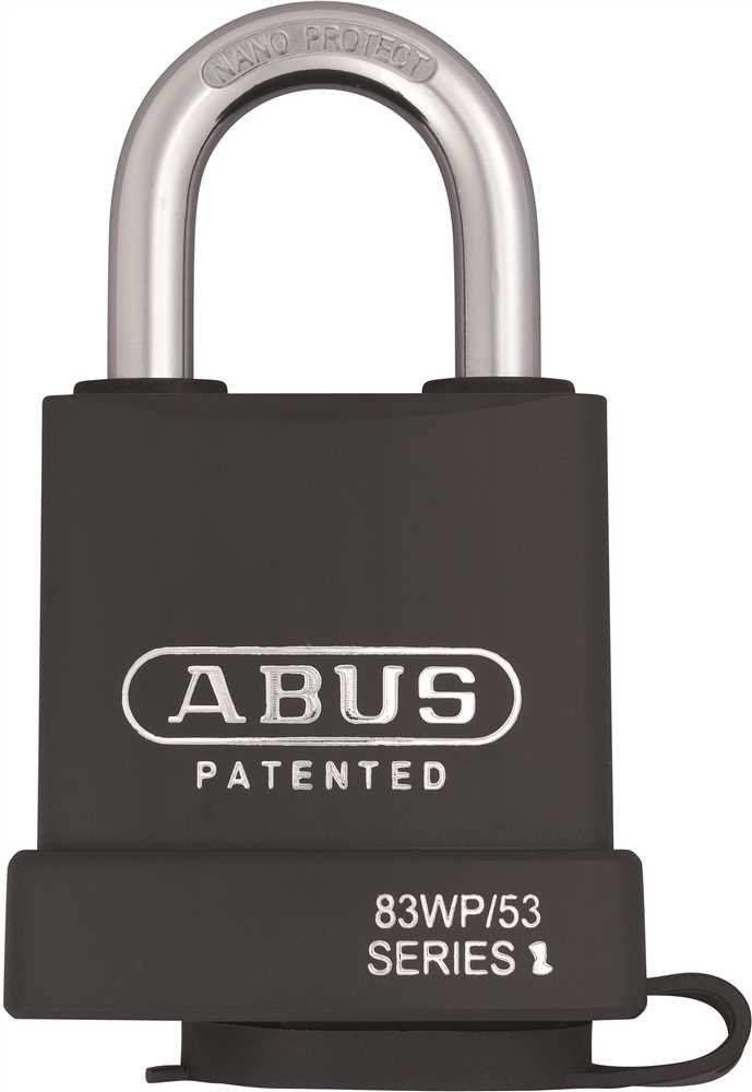 Abus Usa 83919G 83Wp/53 Series All-Weather Rekeyable Padlock, 2'', Schlage Keyway (Keyed Different), English, Plastic, 15.34 fl. oz, 3.82'' x 2.05'' x 1.14''