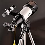 Landove Telescope 70mm Apeture Travel Scope 400mm AZ Mount - Good Partner to View Moon and Planet - Good Travel Telescope with Backpack for Kids and Beginners