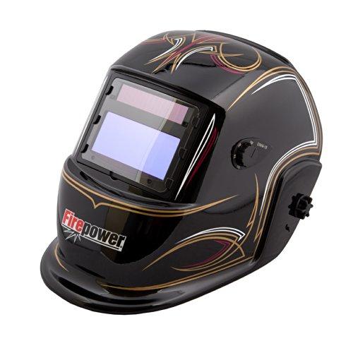(Firepower 1441-0085 Auto-Darkening Welding Helmet with Pinstripes Design)