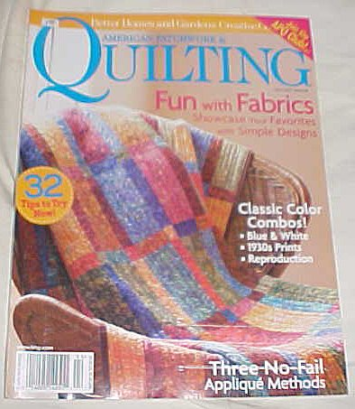 American Patchwork & Quilting April 2007 Issue 85 (Better Homes and Gardens Creative Collection) Magazine