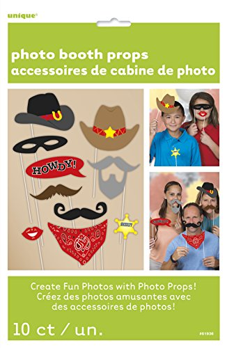 Western Photo Booth Props 10pc