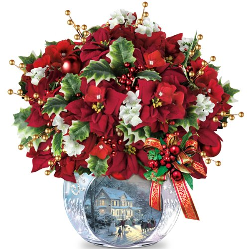 Table Centerpiece: Thomas Kinkade Bringing Holiday Cheer Table Centerpiece by The Bradford Exchange