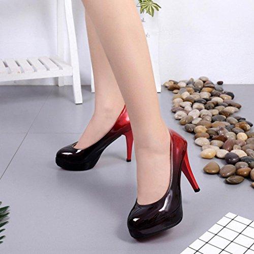 Chaussures Paire De Cuir En Mode C 1 Talons À Gradient Femmes Faible Hauts Couleur Erthome Verni Chaussures t04qw5