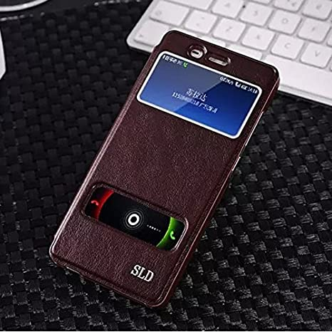 Amazon.com: QUSECASE S-View Side Flip Leather Etui Stand ...