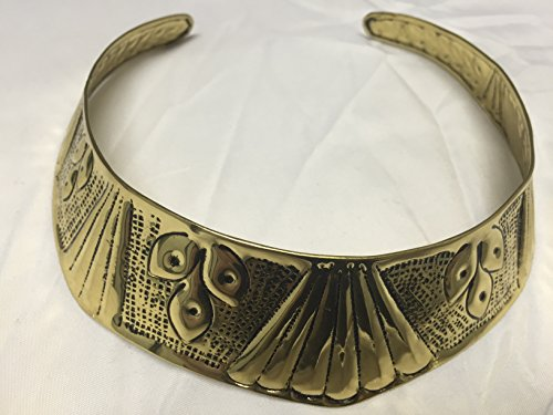 Sp Antique Brass (Brass Ethnic Necklace with Brass Antique Finish - Clam shell and Wheat Chain Etched)