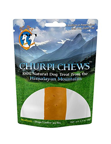 - Churpichews Natural Long Lasting Dog Treat Chew, Medium, 2.5-Ounce, 1-Piece