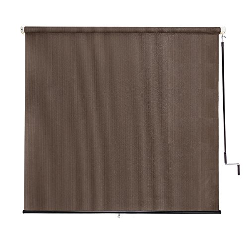 Sunlax 6′ x 6′ Exterior Cordless Sun Roller Shade UV Block Window Blinds in Color Ca ...