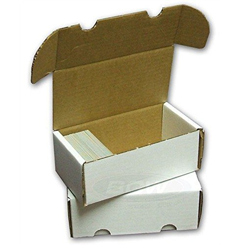 BCW 400-Count Storage Box for Trading Cards | 200 lb. Test Strength | (6-Count)