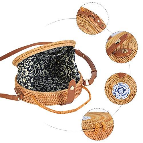 Rattan tracolla Borsa Intrecciata sacchetto le Casuale Messenger donne a spiaggia Borsa Tracolla Viaggio Borsa di a in Mano Borsa Borsa da da paglia a Enjoyall per xO0qntww8