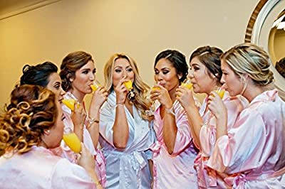 Zynotti Satin Bridal Party Robes - Available In 34 Colors and Variety Of Sizes