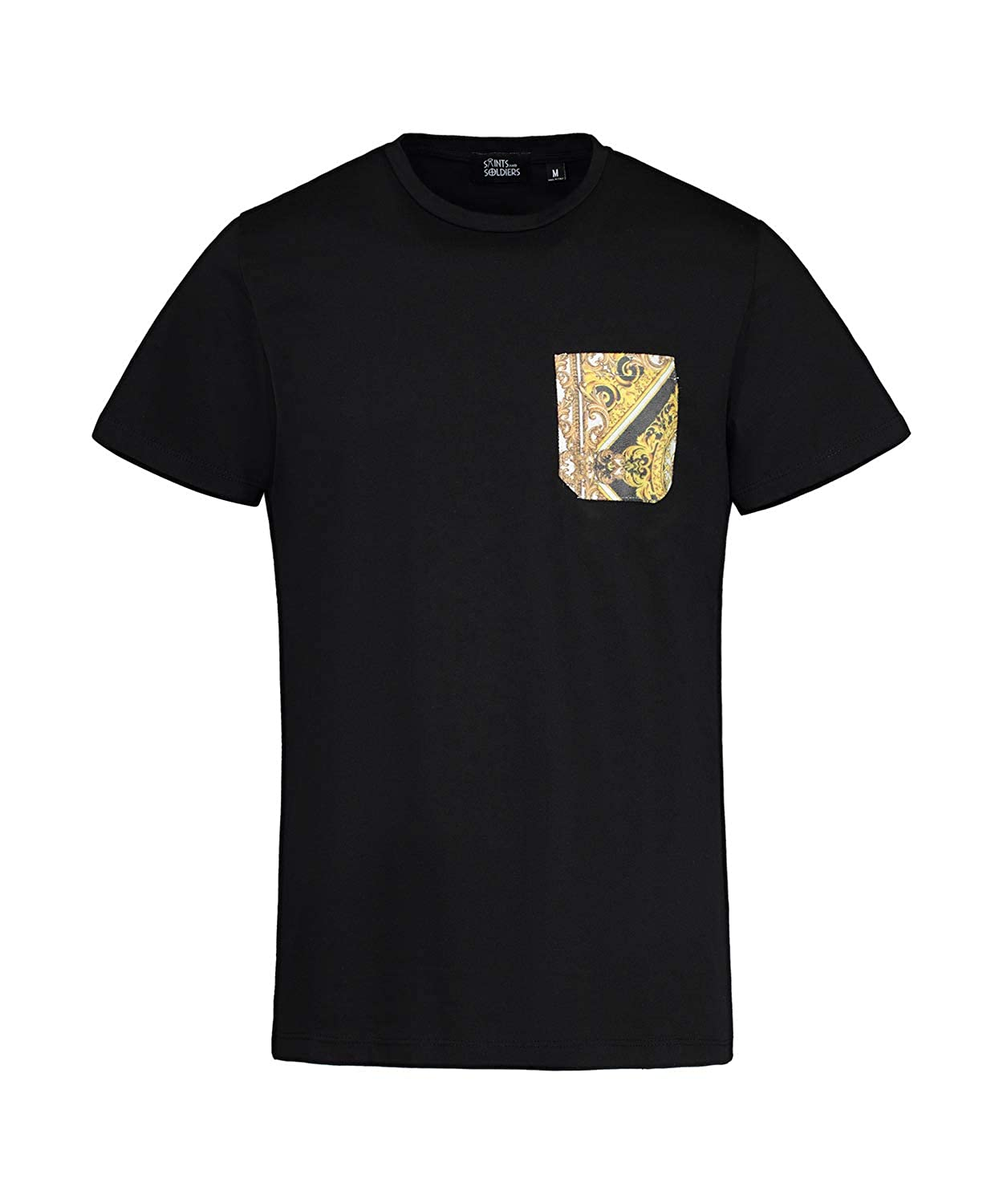 d7ea1ecdf Saints and Soldiers Men's Versace Inspired Printed Pocket tee Shirt, Made  in Italy | Amazon.com