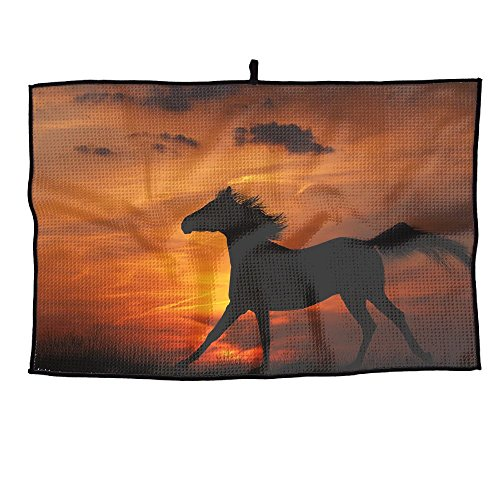 - PIN Speeding Horse Golf Towel Sports Towel Player Towel 23.6x15 Inches
