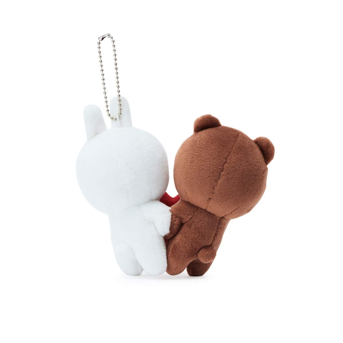 LINE FRIENDS Love Bag Charm - BF Character Keychain Décor 15CM, Brown/White by LINE FRIENDS (Image #4)